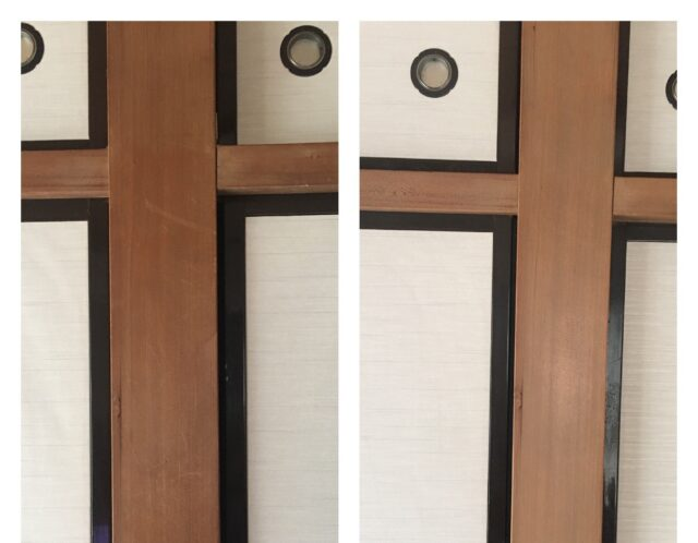 柱の灰汁洗い(戸田市)